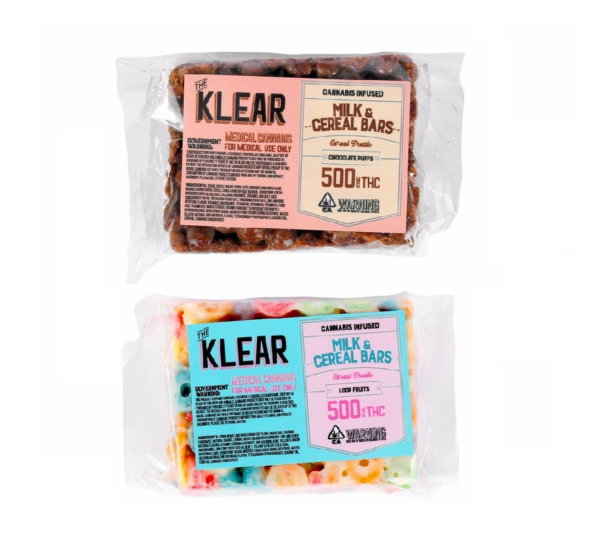 Klear-Milk Cereal-Bars (500mg-THC-3-options)